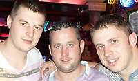Pictured: Charlie Birch (C) <br />Re: A man believed to be from Welshpool has been killed in a hit-and-run crash in Cyprus.<br />Following the crash two people, a 35-year-old man and a 23-year-old woman, were arrested and charged with premeditated murder and attempted murder.<br />They were brought before the Paphos district court and remanded for eight days.<br />A 39-year-old man, who was named locally as Charlie Birch, was killed in the crash, which happened on the Peyia-Ayios Georghios road in Paphos in the early hours of Sunday. Another man, aged 32, was injured.Pictured: <br />Re: A man believed to be from Welshpool has been killed in a hit-and-run crash in Cyprus.<br />Following the crash two people, a 35-year-old man and a 23-year-old woman, were arrested and charged with premeditated murder and attempted murder.<br />They were brought before the Paphos district court and remanded for eight days.<br />A 39-year-old man, who was named locally as Charlie Birch, was killed in the crash, which happened on the Peyia-Ayios Georghios road in Paphos in the early hours of Sunday. Another man, aged 32, was injured.
