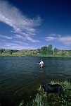 Fly fishing on the Bighorn River in Montana.