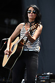 WEST PALM BEACH, FL - AUGUST 16: Sheila Marshall of Rivers and Rust performs at The Coral Sky Amphitheatre on August 16, 2017 in West Palm Beach Florida. Credit Larry Marano © 2017