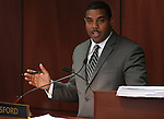 Nevada Senate Majority Leader Steven Horsford, D-Las Vegas, leads the Committee of the Whole on Friday, April 22, 2011, at the Legislature in Carson City, Nev. .Photo by Cathleen Allison