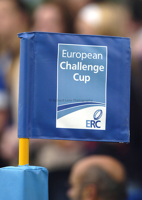 Photo: Jonathan Butler..Bath Rugby v Clermont Auvergne. European Challenge Cup Final. 19/05/2007..European Challenge Cup Flag.