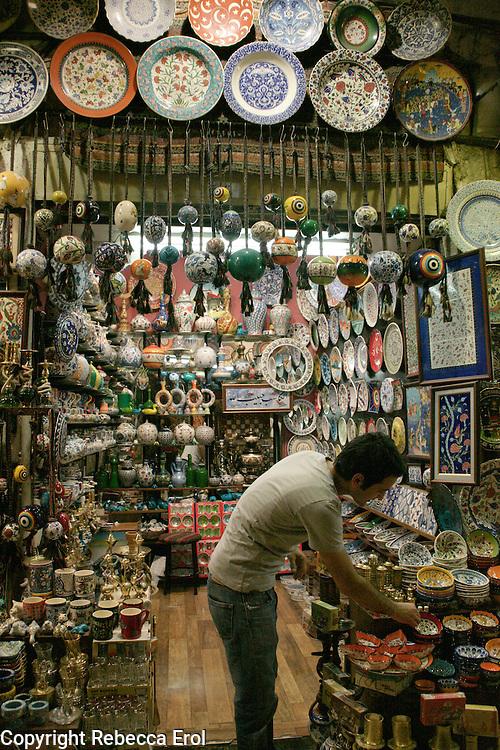 Ceramics shop at the Grand Bazaar, Istanbul, Turkey