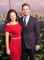 VANCOUVER, BC - OCTOBER 22: Cassandra Jean and Stephen Amell at the 100th episode celebration for tv's Arrow at the Fairmont Pacific Rim Hotel in Vancouver, British Columbia on October 22, 2016. Credit: Michael Sean Lee/MediaPunch