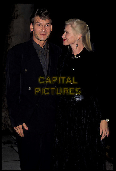PATRICK SWAYZE & wife.half length, half-length.*RAW SCAN- photo will be adjusted for publication*.www.capitalpictures.com.sales@capitalpictures.com.©Capital Pictures