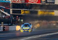 Nov 10, 2017; Pomona, CA, USA; NHRA funny car driver Ron Capps during qualifying for the Auto Club Finals at Auto Club Raceway at Pomona. Mandatory Credit: Mark J. Rebilas-USA TODAY Sports