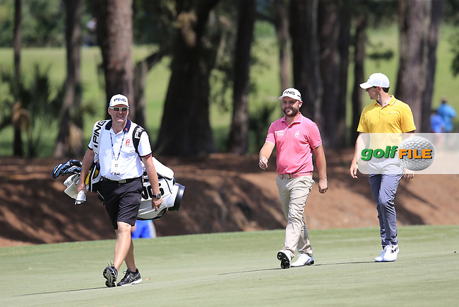 Andy Sullivan (ENG) and Rory McIlroy (NIR) during practice for the Players, TPC Sawgrass, Championship Way, Ponte Vedra Beach, FL 32082, USA. 11/05/2016.<br /> Picture: Golffile | Fran Caffrey<br /> <br /> <br /> All photo usage must carry mandatory copyright credit (&copy; Golffile | Fran Caffrey)