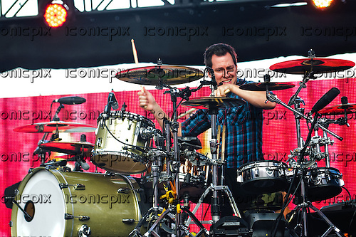 CHEVELLE - drummer Sam Loeffler performing live at the 2012 Epicenter Festival at Verizon Wireless Amphitheare in Irvine, CA USA - September 22, 2012. Photo © Kevin Estrada / Iconicpix