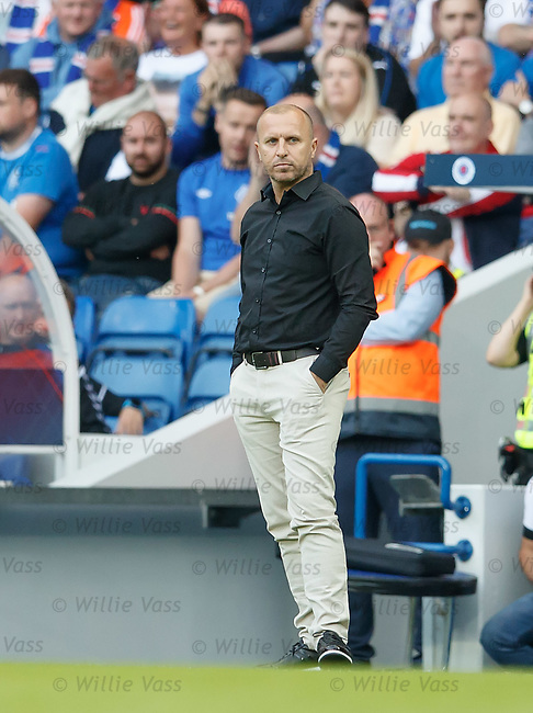 12.07.18 Rangers v FK Shkupi: Manager Zekirija Ramadani