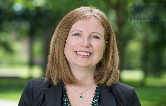 June 16, 2015; Erin Hoffmann Harding, Vice President for Student Affairs.  (Photo by Barbara Johnston/University of Notre Dame)