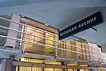 """The rows of cells known as """"Michigan Avenue"""" in Alcatraz Prison, San Francisco, California."""