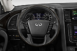 Car pictures of steering wheel view of a 2020 Infiniti QX80 Luxe 5 Door SUV