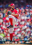 1 June 2014: Washington Nationals starting pitcher Tanner Roark on the mound against the Texas Rangers at Nationals Park in Washington, DC. The Rangers shut out the Nationals 2-0 to salvage the third the third game of their 3-game inter-league series. Mandatory Credit: Ed Wolfstein Photo *** RAW (NEF) Image File Available ***