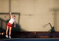 STANFORD, CA - January 26, 2011: Carolyn McVeigh of Stanford women's tennis during her match against UC Davis' Lauren Curry. McVeigh won 6-2, 6-1.