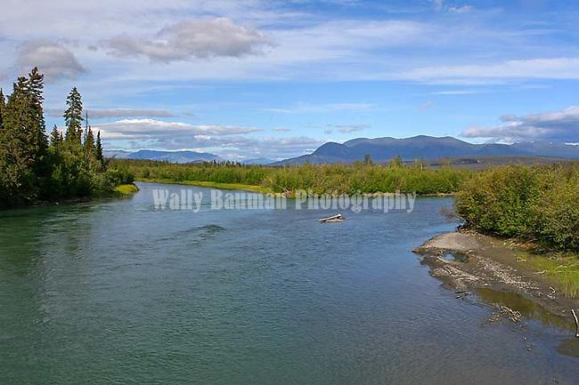 IMAGES OF THE YUKON,CANADAThe Dezadeash River,