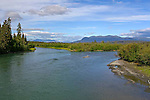 IMAGES OF THE YUKON,CANADAThe Dezadeash River,