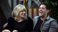 Rachel Johnson, Jonny Mitchell<br /> Celebrity Big Brother 2018 - Day 7<br /> *Editorial Use Only*<br /> CAP/KFS<br /> Image supplied by Capital Pictures