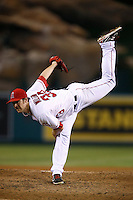 C.J. Wilson #33 of the Los Angeles Angels pitches against the Seattle Mariners at Angel Stadium on September 26, 2012 in Anaheim, California. Los Angeles defeated Seattle 4-3. (Larry Goren/Four Seam Images)