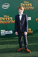 HOLLYWOOD, CA- AUGUST 8:  Oakes Fegley at the Disney premiere of 'Pete's Dragon' at El Capitan Theater in Hollywood, California, on August 8, 2016. Credit: David Edwards/MediaPunch
