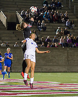 Allston, Massachusetts - Sunday, May 25, 2014: FC Kansas City (white/blue) defeated the Boston Breakers (blue), 2-0 in a National Women's Soccer League (NWSL) match at Harvard Stadium.