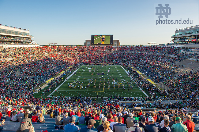 September 9, 2017; Notre Dame vs. Georgia football game.  (Photo by Barbara Johnston/University of Notre Dame)