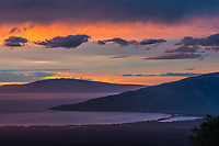 An incredible sunset seen from just below the Kula Fire Station in Upcountry Maui.