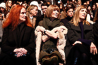 Anna Wintour attends the Carolina Herrera show fall/Winter 2014 collection at the New York Fashion Week in New York February 10, 2014 Photo by Kena Betancur / VIEWpress.