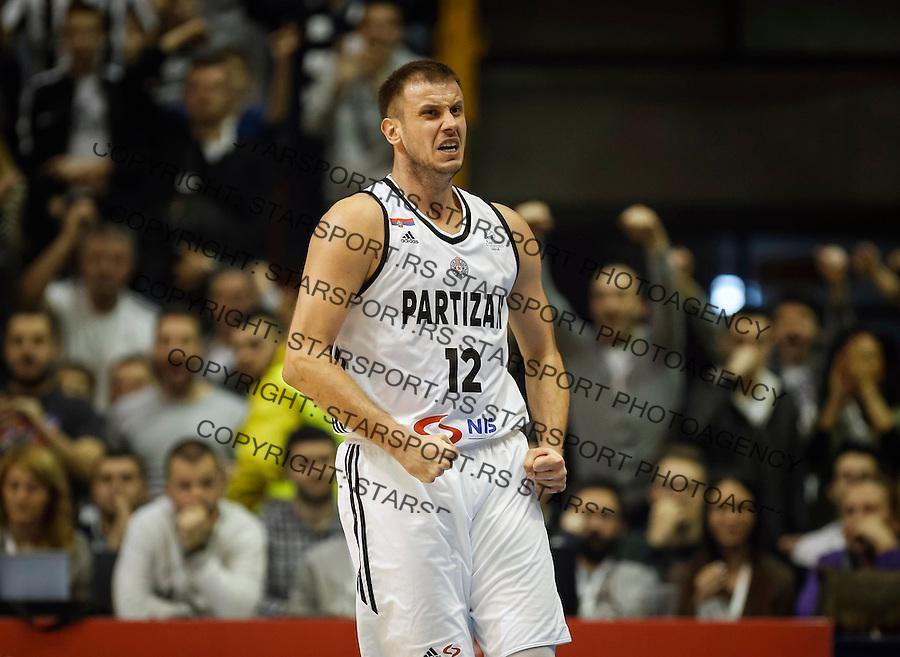 Kosarka FIBA Champions League season 2016-2017<br /> Partizan v PAOK<br /> Novica Velickovic reacts<br /> Beograd, 08.01.2016.<br /> foto: Srdjan Stevanovic/Starsportphoto &copy;