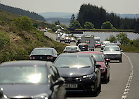 2016 05 30 Bank Holiday Monday traffic on the A470 road near Storey Arms in Brecon, Wales, UK