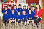 Junior infants who have started their schooling life in Joanne Brosnan class in Kilmurry NS, Cordal are front row l-r: Isabelle Brosnan, Laura O'Donoghue, Sharon Fitzmaurice, Aine Walsh, Derarca O'Connor. Back row: Evan Kelleher, Shane Kelliher, Thomas Kelliher, Gerard Costello, Evan Greaney, Gearoid Donnegan and Micheál Hickey.