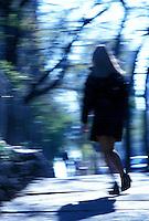 Schoolgirl running