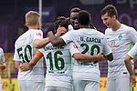 16.07.2017, Stadion an der Bremer Bruecke, Osnabrueck, GER, FSP VfL Osnabrueck vs SV Werder Bremen<br /> <br /> im Bild<br /> Teamjubel, Ole K&auml;uper / Kaeuper (SV Werder Bremen U23 #50), Zlatko Junuzovic (Werder Bremen #16), Lamine San&eacute; / Sane (Werder Bremen #26), Dominic Volkmer (SV Werder Bremen U23 #51), <br /> <br /> Foto &copy; nordphoto / Ewert