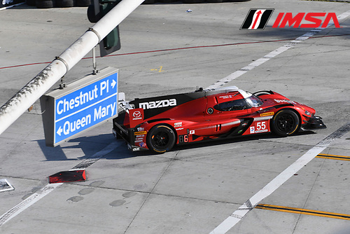 2017 IMSA WeatherTech SportsCar Championship<br /> BUBBA burger Sports Car Grand Prix at Long Beach<br /> Streets of Long Beach, CA USA<br /> Friday 7 March 2017<br /> 55, Mazda DPi, P, Tristan Nunez, Jonathan Bomarito<br /> World Copyright: Richard Dole/LAT Images<br /> ref: Digital Image RD_LB17_137