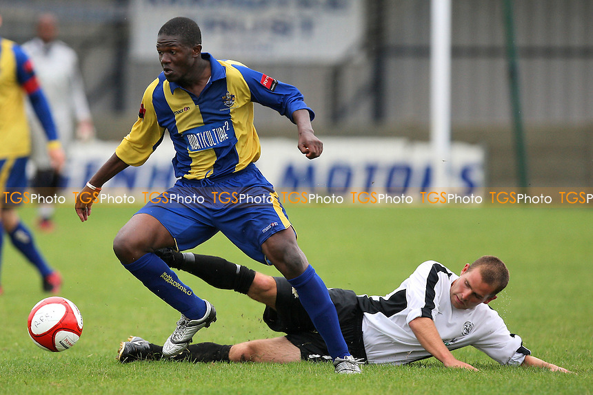 Abs Seymour in action for Romford - Romford vs Royston Town - FA Challenge Cup Preliminary Round Football at Mill Field, Aveley - 04/09/11 - MANDATORY CREDIT: Gavin Ellis/TGSPHOTO - Self billing applies where appropriate - 0845 094 6026 - contact@tgsphoto.co.uk - NO UNPAID USE.