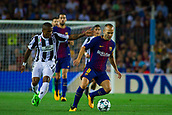 12th September 2017, Camp Nou, Barcelona, Spain; UEFA Champions League Group stage, FC Barcelona versus Juventus; Andres Iniesta of FC Barcelona controls the ball