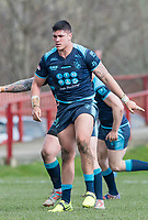 Picture by Allan McKenzie/SWpix.com - 25/03/2018 - Rugby League - Betfred Championship - Batley Bulldogs v Featherstone Rovers - Heritage Road, Batley, England - Mitch Clark.