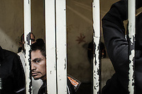 Migrants are held in prison by Mexican police after been deported. Tijuana, Mexico. Jan 06, 2015.