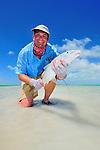 Handheld bonefish in Christmas Island