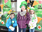 Sean, Emma and Niamh Boyle at the St. Patrick's day parade in Ardee. Photo:Colin Bell/pressphotos.ie