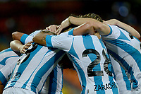 MEDELLÍN - COLOMBIA, 27-07-2017: Jugadores de Racing Club de Argentina celebran después de anotar un gol a Independiente Medellin de Colombia durante partido de la fecha 3, key 1, de la Copa CONMEBOL Sudamericana 2017 jugado en el estadio Atanasio Girardot de la ciudad de Medellín. / Players of Racing Club of Argentina celebrate after scoring a goal to Independiente Medellin de Colombia during the match for the second phase, key 1, of the Copa CONMEBOL Sudamericana 2017 played at Atanasio Girardot stadium in Medellin city. Photo: VizzorImage/ León Monsalve /