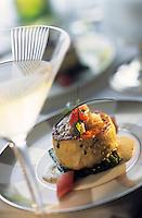 """Amérique/Amérique du Nord/USA/Etats-Unis/Vallée du Delaware/Pennsylvanie/Philadelphie : Galette de crabe  - Recette de Frédéric Cote chef du restaurant """"Le Bec Fin"""""""