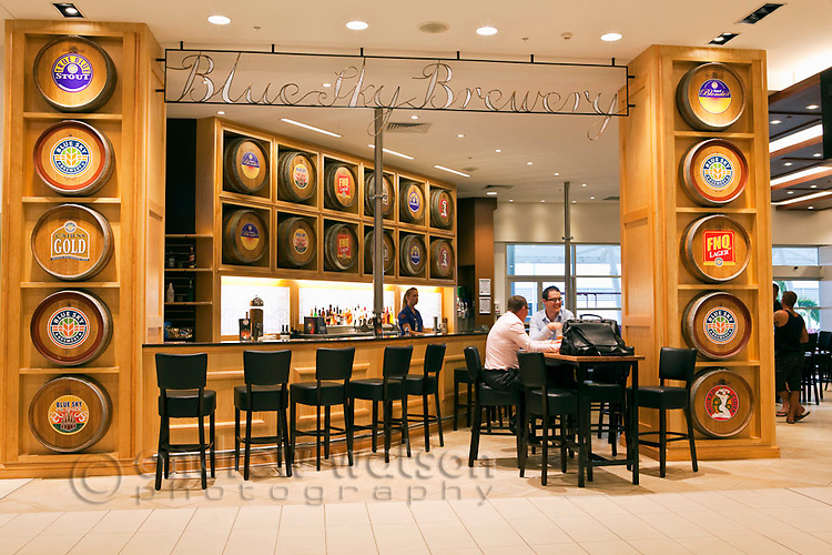 Blue Sky Brewery bar at Cairns Domestic Airport, Cairns, Queensland, Australia
