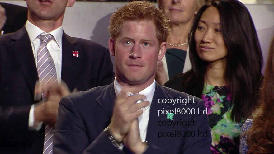Olympics 2012 - BBC Coverage.Closing ceremony.Prince Harry. looked emotional..Picture by Pixel8000 07917221968