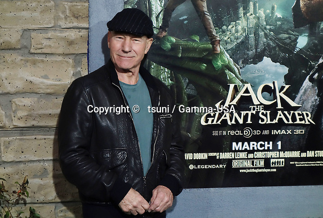 Patrick Stewart  arriving Jack The Giant Slayer Premiere at the Chinese Theatre In Los Angeles.