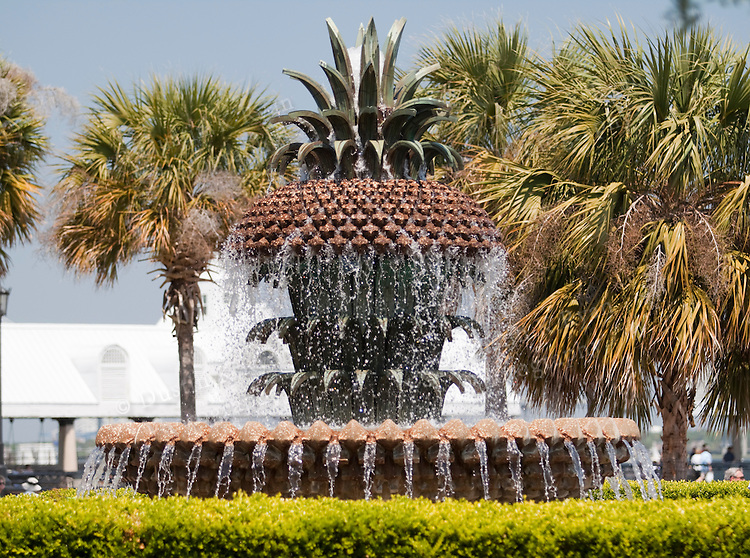 The Pineapple Fountain at Charleston Waterfront park Charleston South Carolina