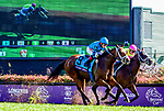 November 3, 2018: Stormy Liberal #9, ridden by Drayden Van Dyke, wins the Breeders' Cup Turf Sprint on Breeders' Cup World Championship Saturday at Churchill Downs on November 3, 2018 in Louisville, Kentucky. Jessica Morgan/Eclipse Sportswire/CSM