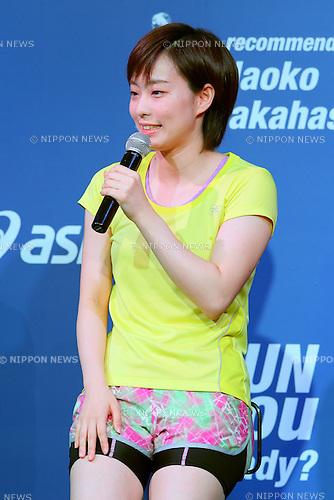 Kasumi Ishikawa, APRIL 16, 2014 : Season concept presentation of ASICS RUNNING 2014 SUMMER at Tokyo, Japan. (Photo by Yohei Osada/AFLO SPORT)