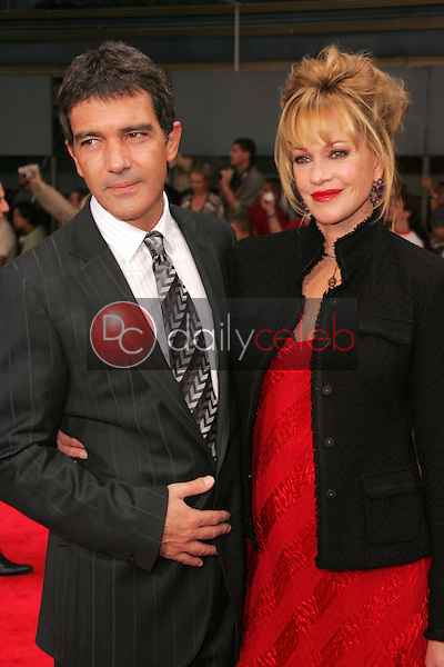 """Antonio Banderas and Melanie Griffith<br />at the premiere of """"The Legend of Zorro"""". Orpheum Theater, Los Angeles, CA. 10-16-05<br />Dave Edwards/DailyCeleb.com 818-249-4998"""
