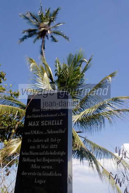 Afrique/Afrique de l'Est/Tanzanie/Bagamoyo: le cimetière germanique