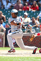 Addison Russell (18) during the 2010 Under Armour All-American Game powered by Baseball Factory at Wrigley Field in Chicago, New York;  August 14, 2010.  Photo By Mike Janes/Four Seam Images
