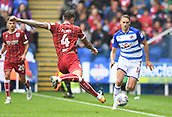 9th September 2017, Madejski Stadium, Reading, England; EFL Championship football, Reading versus Bristol City; Aden Flint of Bristol City prepares to clear the ball downfield